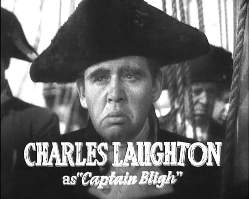 Charles Laughton en los cr�ditos de Mot�n a bordo