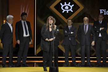 Isabel Coixet, recogiendo el Premio Forqué.